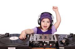 little girl dj fun and play music