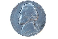 a isolated us nickel front