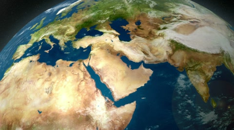 2851 Earth zoom to the middle east.
