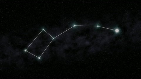 2881 The Little Dipper constellation is outlined.