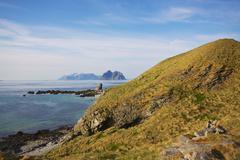 picturesque coastline of lofoten islands in norway