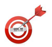 target 100 percentage discount illustration design concept. over white