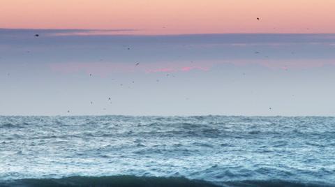 A morning sunrise over the ocean.  Shot 60fps in 4K UltraHD.