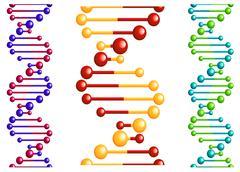dna molecule with elements for biology or medicine concept design
