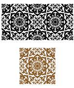 arabic seamless ornament in retro style for background design