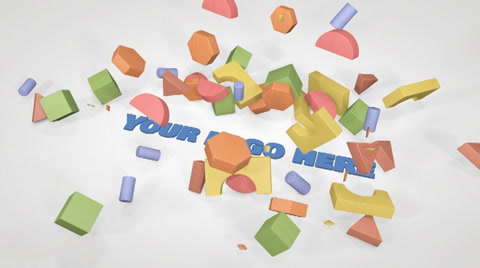 This template represents a group of wood construction blocks falling over a text.   You can use the customizable area included for replace it with your logo or text and it will become 3D with no plugins. Basically, just drag and drop.  What Includes:  * 1080 FULL HD project. * No plugins needed. * Prerendered 3D scene. * Customize with a logo or a text and it will become 3D with no plugins.  * Well organized with the minimum layers. * Help file included.  Approximated rendering time on a 2 year old 3.2ghz i3 + 6GB RAM system = 6 Min 20 sec  Music is not included. Is a creation of martynharvey:  https://www.pond5.com/stock-music/8681467/chirpy-kids-logo.html  If you have any problem, please contact me.