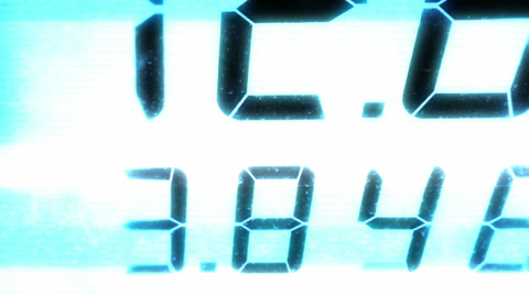 4144 A bad video stylization of a working gas pump.