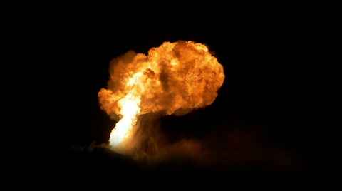 4556 A huge fireball lights up the night sky.  Shot at 96fps.