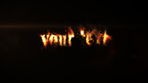 Fiery disappearance of your text or logo! High quality animation! Trapcode Particular and  Optical Flares  plug-ins required!!! Works with any logo or text! Very easy to edit!!!