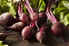 raw organic red beets ready to eat