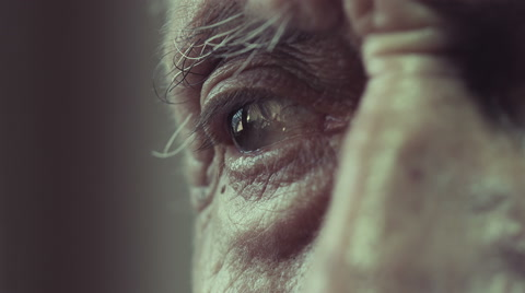 we recommend  you  to download a still frame because clips preview may appear darker than they really are: Footage realized with black magic production 4k. Old and lonely man near a window thinking to his trouble