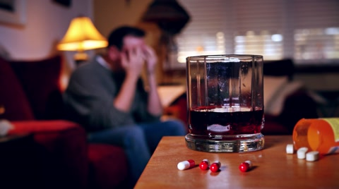 5640 A man struggles  with alcohol and drug addiction.