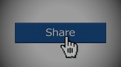 "5814 A ""share"" social media button animation with optional luma matte."