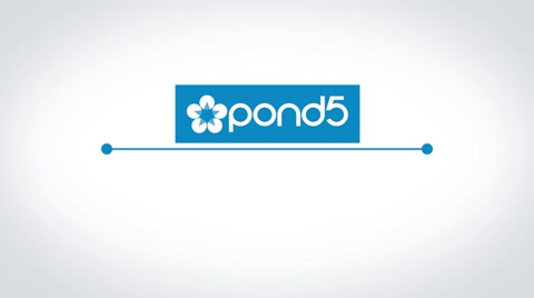 Simple and clean logo revealing from the strings.