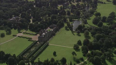 Sandringham House from high,
