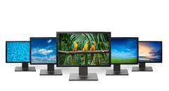 HDTV  television concept - flat screen TV