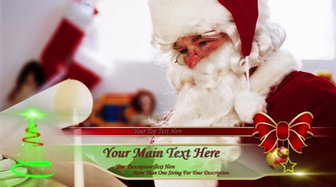 """Pack with this item http://www.pond5.com/after-effect/56276816/6-lower-thirds-theme-pack.html """"Lower Third. Christmas"""" includes editable text, intro and outro animation and """"Color Control"""" layers for a different parts of lower third. Use """"Color Control"""" to change color to any color. Image used in the preview is not included."""