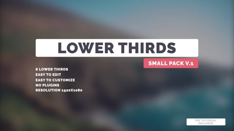 8 Lower Thirds + 1 Logo holder