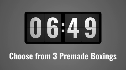 A retro style flip clock that comes with 3 premade boxings and you can choose between 12h time system with AM/PM and 24h time system. The google font Oswald is included in the project for best performance. It's fully customizable, just set your time and insert it anywhere you like.