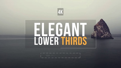 15 Simple Lower Thirds •720p, 1080p (1920×1080), 2K and 4K (3840×2160) resolutions •Easily to customize color with color control  •Video tutorial included •Easy to customize project  •No plug-ins required •Used Image and music Not included in Main File