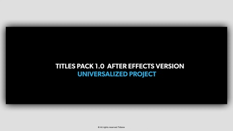 THIS PACK IS MADE FOR ADOBE AFTER EFFECTS  17 awesomely animated lower thirds   Simply open them up, change the text and colors,position,scale and hit render.  It is a great way to enhance your corporate presentations, business slideshows,  promotions, events, trailers, teasers, films, movies, TV shows, commercials, new products,  Facebook and YouTube videos.  Required plugins: Ray-traced 3D (included in After Effects)  Preview music not included