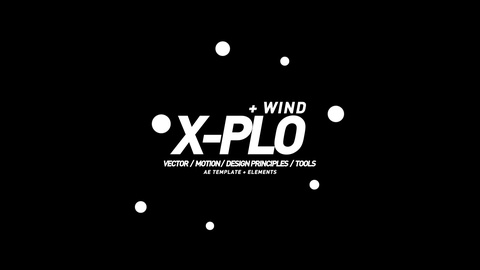 Vector animated iconic explosion.  Includes vector Leaves and Wind. Scalable, Modifiable AfterEffects Template.