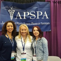 Our APSPA members Sarah H. Hernandez, Brooke Schweitzer and Inessa Shlifer at AAPA Exhibit next to our APSPA Booth., San Antonio, 2016