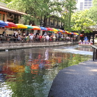 Busy Restaurants at River Walk