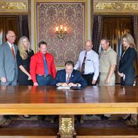 Governor Gary Herbert Signing  declaration for Utah PA week