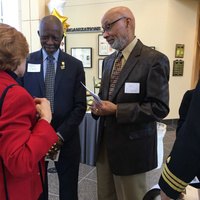 April 2017: Recent 50th year celebration of the first PA graduates. Duke PAP. Ceremony at The Dr. Eugene Stead Center.