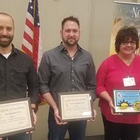 2018 North Dakota PA of the Year Nominees (L to R) John Smetana, Preston Schaffner and Tammy Clementson