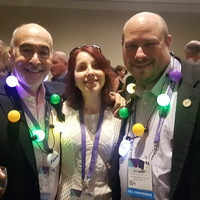 AAPA President Jonathan Sobel and President-elect Dave Mittman with Inessa at DFAAPA reception.