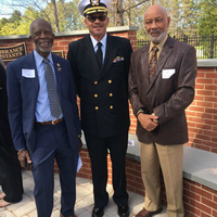 April 2017: Recent 50th year celebration of the first PA graduates. Duke PAP. Ceremony at The Dr. Eugene Stead Center. L-R: John Davis, James Carter, Earl Echard.