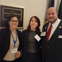 Jonathan Sobel, Inessa Shlifer and Melissa Rodriguez at Capitol Hill.