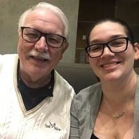 Treasurer Julia Swafford  with Giannelli