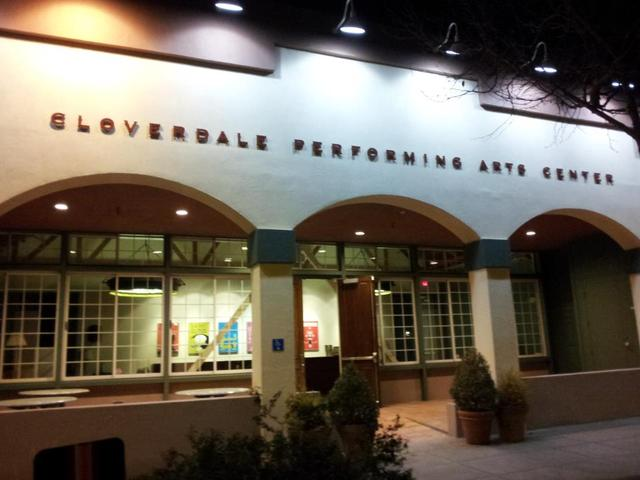 Cloverdale_performing_arts_center_exterior_at_night.slide