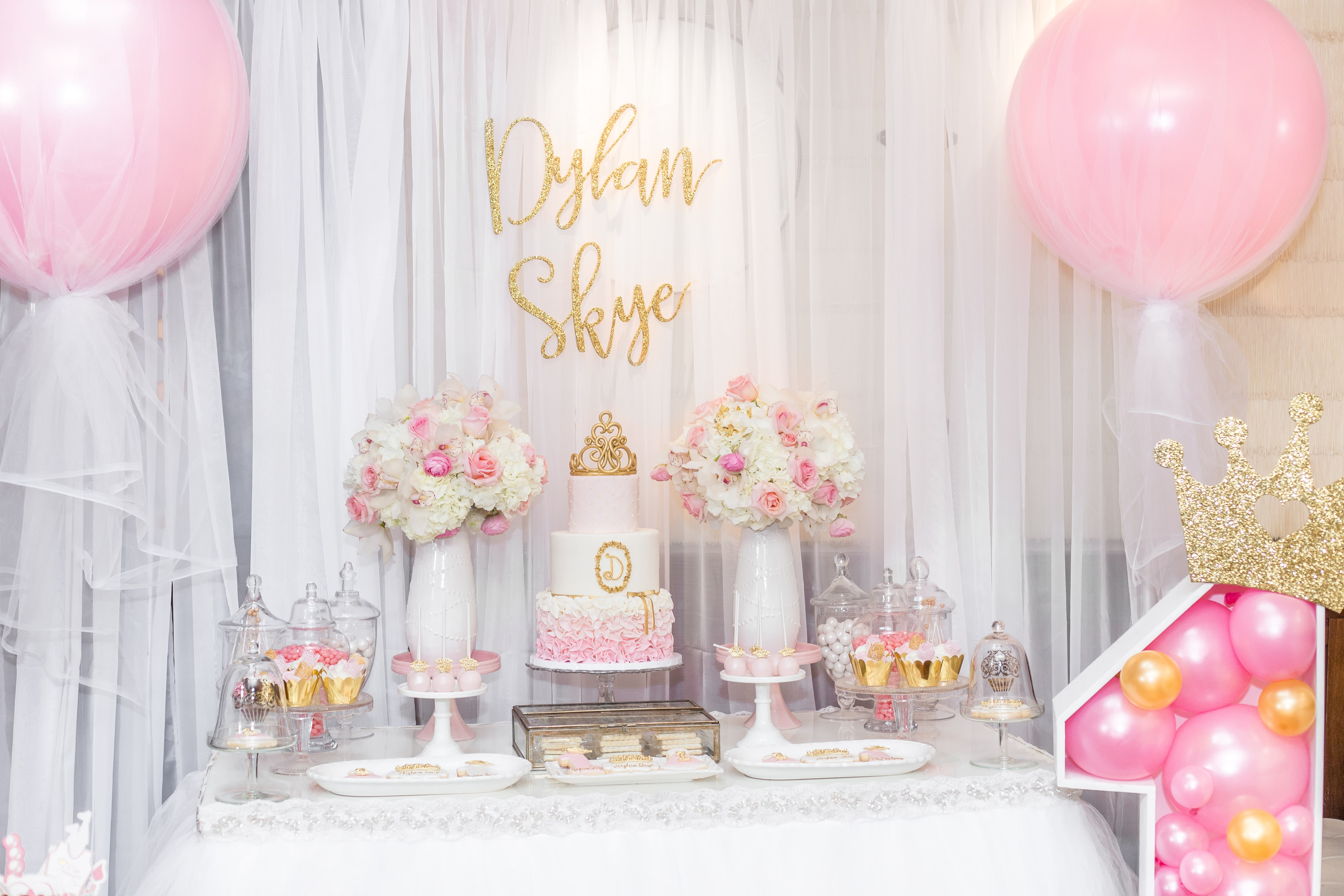 Princess First Birthday Party Paarteez Com