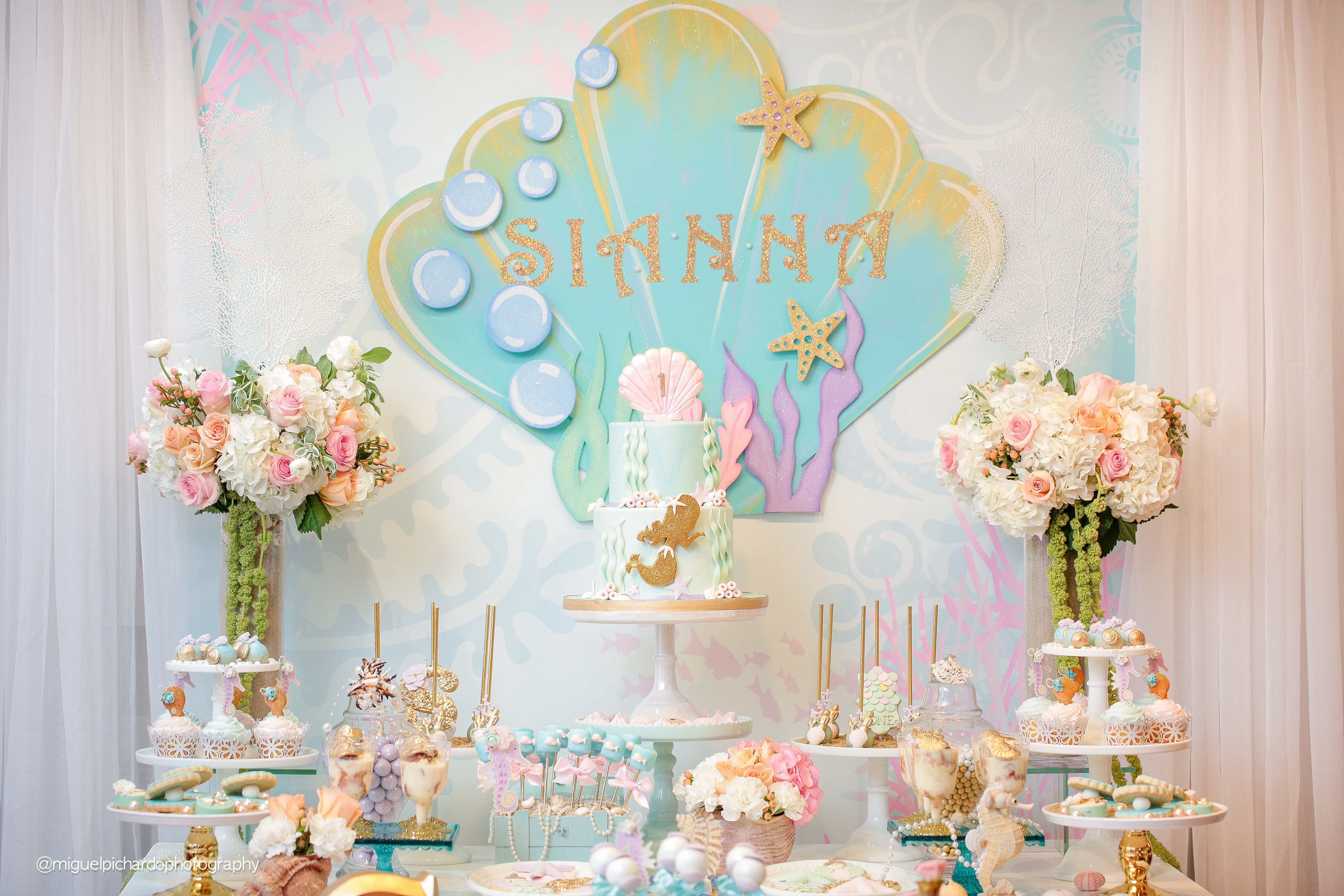 Mermaid Themed 1st Birthday Party Paarteez Com