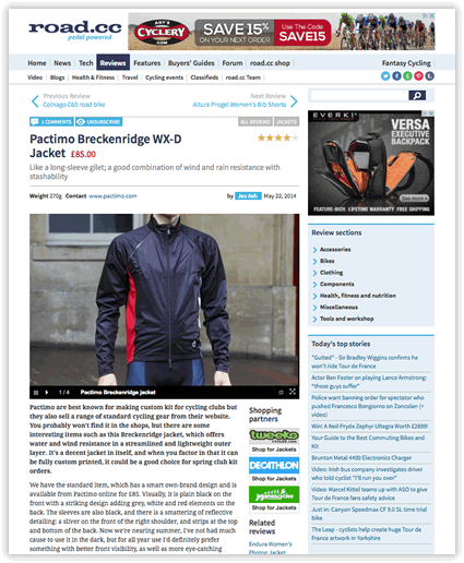 Breckenridge Cycling Jacket Review - road.cc