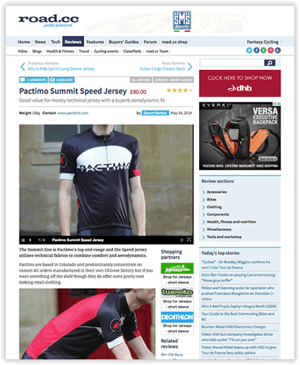 Summit Speed Jersey Review - road.cc