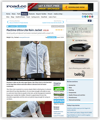 Ultra Lite Rain Jacket - road.cc