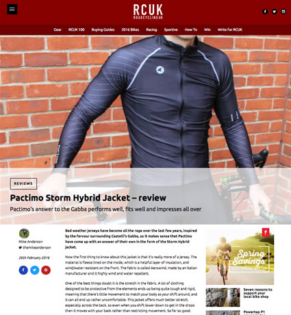 RCUK storm hybrid jacket review