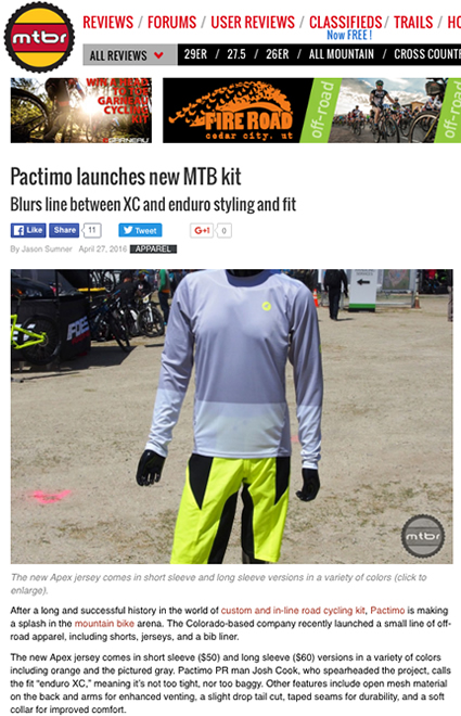 pactimo mountain bike apparel