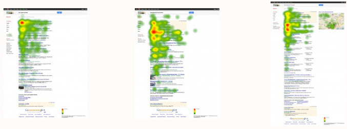 google-first-page-heat-map