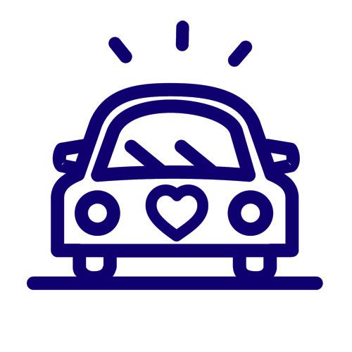 wedding-car-purple