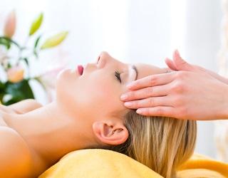 girl receiving massage