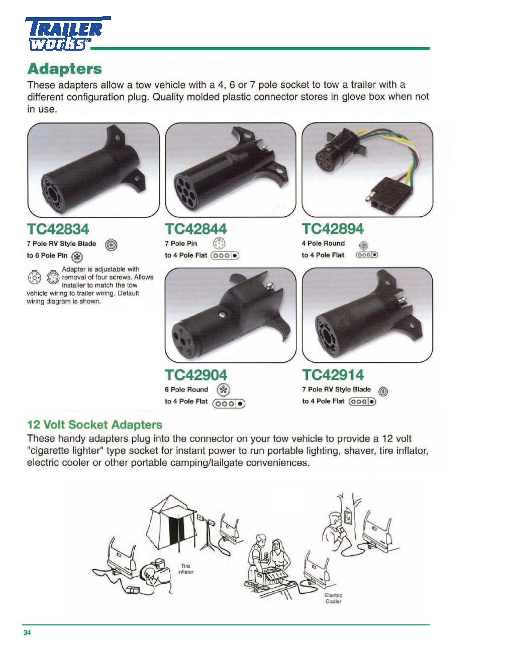 Trailerworks Catalog - Powered by PageTurnPro.com on 4 pole round trailer plug, 2 pole trailer wiring diagram, custom trailer wiring diagram,
