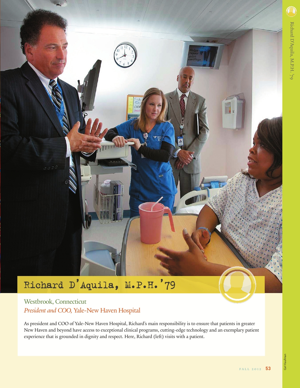 Yale Public Health - Fall 2012 - Powered by PageTurnPro com