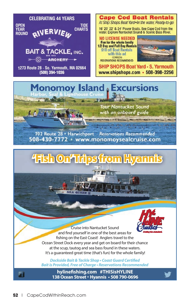 Hyannis Yarmouth Guest Guide 2016 Powered By Pageturnpro