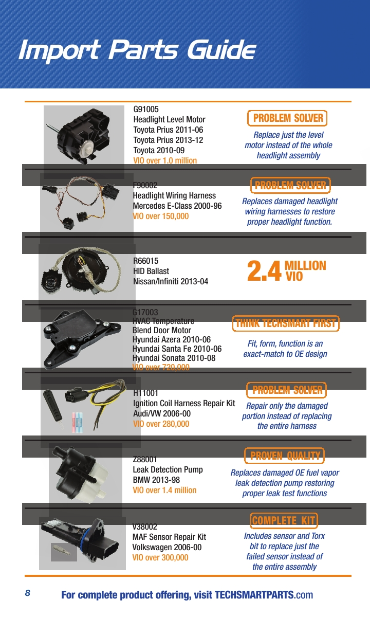 Techsmart Import Parts Guide 2016 Powered By Bmw Ignition Coil Wiring Harness Page No